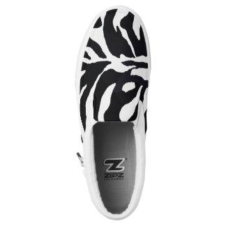 Zebra Black and White Slip On Sneaker Africa