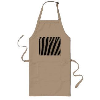 Zebra Black and White Striped Skin Texture Templat Long Apron