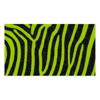 zebra black stripes business cards
