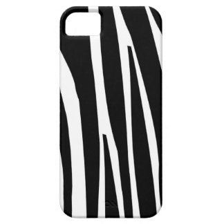 Zebra black stripes skin girly chic nature pattern case for the iPhone 5
