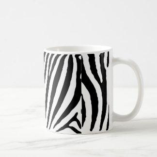 Zebra Black & White Lines Basic White Mug
