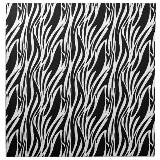 Zebra Black White Stripe American MoJo Napkin Cloth Napkins