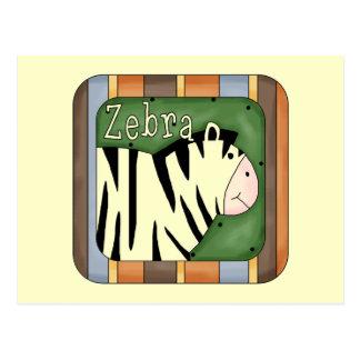 Zebra Block Postcards