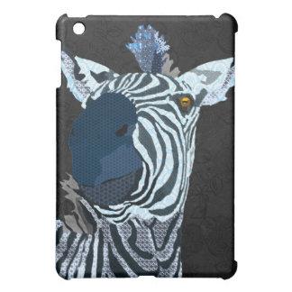 Zebra Blue Black iPad Mini Case