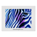 Zebra Blue, leevandergrift.com Poster