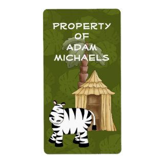 Zebra Bookplate Label