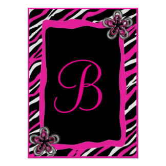 Zebra Border Personalized Wall Art Posters