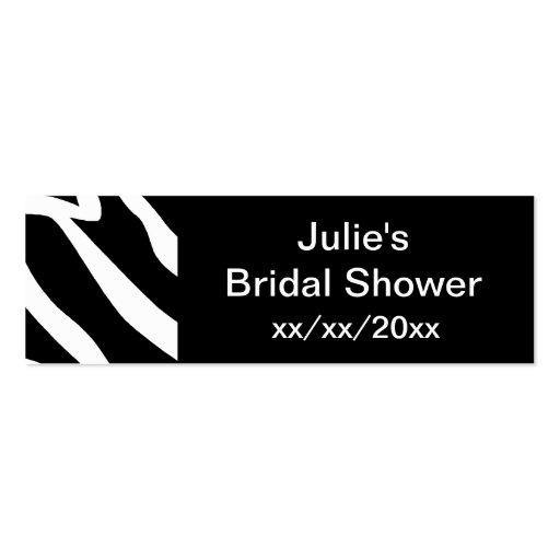 Zebra Bridal Shower Business Card Templates