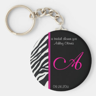 Zebra Bridal Shower Keychain