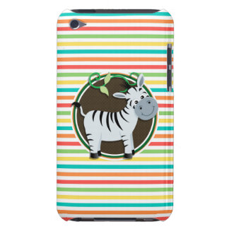 Zebra Bright Rainbow Stripes iPod Touch Covers