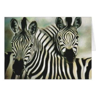 """Zebra Buddies"" Greeting Card"