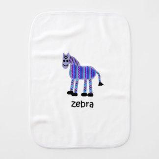 Zebra Burp Cloths