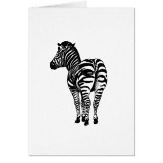 Zebra Butt Card