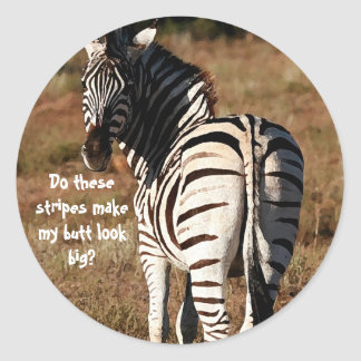 Zebra butt stickers