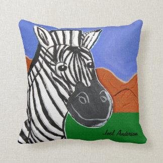 Zebra by Joel Anderson throw pillow 16x16