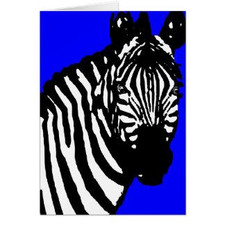 zebra. greeting card