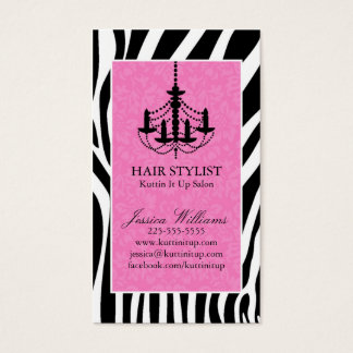 Zebra & Chandelier Business Card