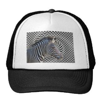 ZEBRA CHECKERBOARD HYPNOTIC HAT