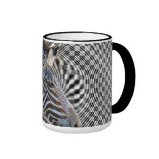 ZEBRA CHECKERBOARD HYPNOTIC COFFEE MUG