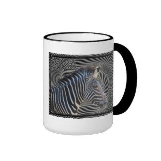ZEBRA CHECKERBOARD HYPNOTIC MUGS