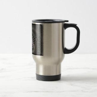 ZEBRA CHECKERBOARD HYPNOTIC COFFEE MUGS