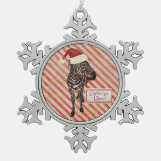 Zebra Christmas Cheer Ornament