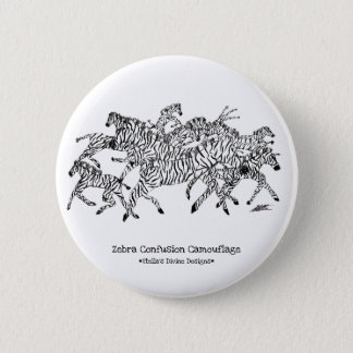 Zebra Confusion Camouflage - Button