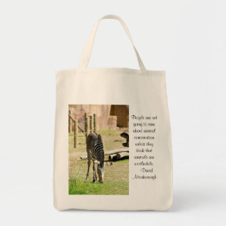 zebra conservation tote bag