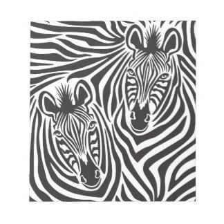 Zebra Couple Notepad