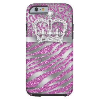Zebra Crown iPhone 6 Tough Jewelry Glitter Tough iPhone 6 Case