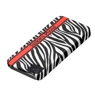 Zebra Custom Case-Mate ID™ iPhone 4 4S Case