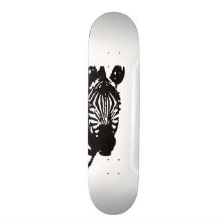 zebra custom skateboard