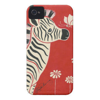 Zebra, Daisies & Butterfly iPhone 4 Case-Mate Case