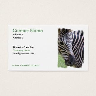 Zebra Design on a Business Card