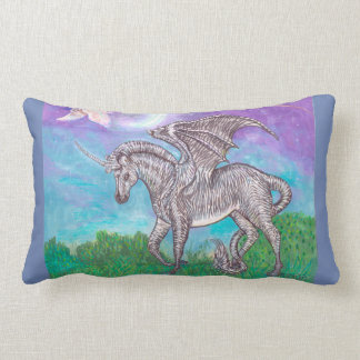 Zebra Dragon Lumbar Cushion