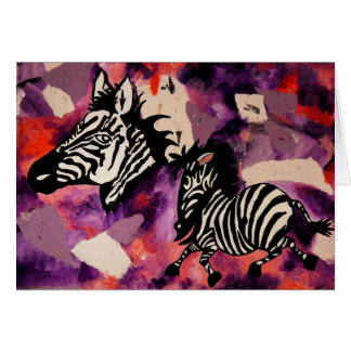 Zebra Dreams Card