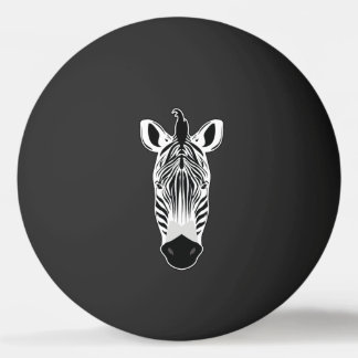 Zebra Face Ping Pong Ball