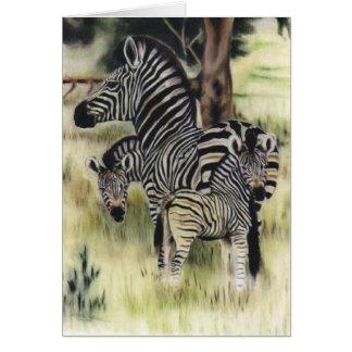"""Zebra Family"" Greeting Card"