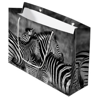 Zebra Family Large Gift Bag