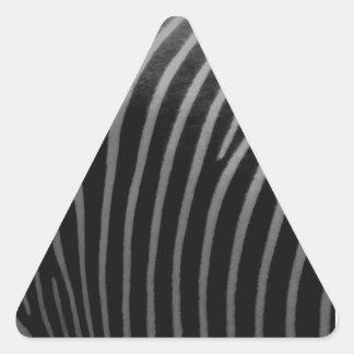 zebra Faux Fur Gifts Triangle Sticker