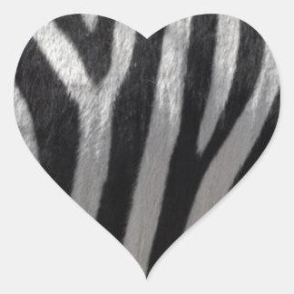 Zebra Faux Leather Heart Sticker
