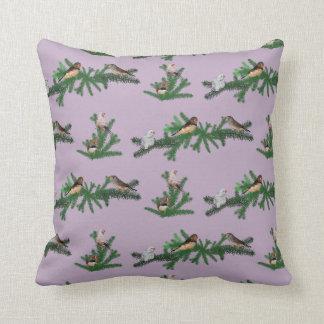 Zebra Finch Party Pillow (Lilac)