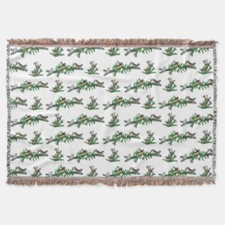 Zebra Finch Party Throw Blanket (choose colour)