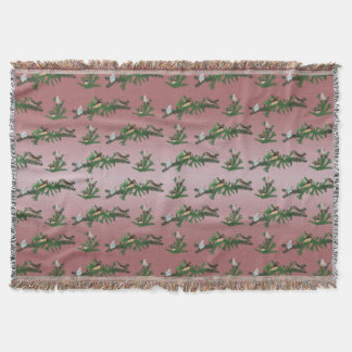Zebra Finch Party Throw Blanket (Pink Mix)