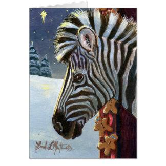 Zebra For Christmas Card