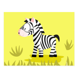 Zebra from my world animals serie postcard