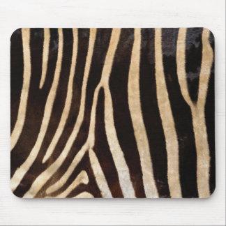 Zebra fur mouse pad