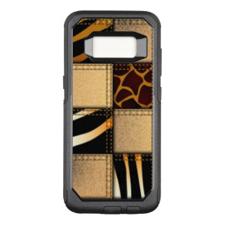 Zebra Giraffe Animal Jeans Collage OtterBox Commuter Samsung Galaxy S8 Case