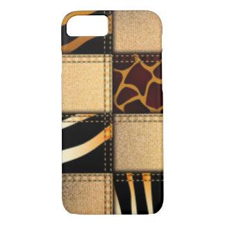 Zebra Giraffe Animal Print Jeans Collage iPhone 8/7 Case