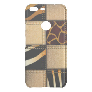 Zebra Giraffe Animal Print Jeans Collage Uncommon Google Pixel XL Case